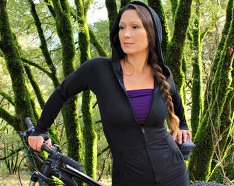 Chrysalis Jacket-Black jacket-women's hoodies-running jacket-womens clothing-athletic jacket women-workout jacket-hoodie-aurora clothing