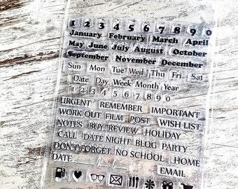 "Clear stamps ""kalender"""