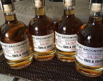 Will you be my Groomsman - Wedding Groomsman Liquor Labels - Will you be my Best Man - Groomsman Labels -  Grooms Gifts - 1 Label