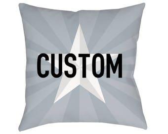 "Custom Throw Pillow, 14"" 16"" or 18"" Spun Polyester"