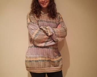 Vintage patterned jumper