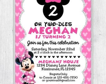 Minnie Mouse Inspired Birthday Invitation