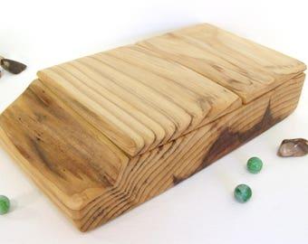 Redwood Box, live edge, valet box, wood art, retirement gift, wooden jewelry box, wood anniversary, office desk organizer, woodsy gift