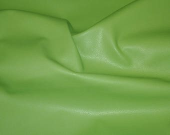 "Leather 12""x12"" DIVINE Lime Green Top Grain Cowhide 2-2.5 oz/.8-1 mm PeggySueAlso™ E2885-03 Full hides available"