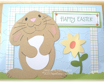 Sweet Easter Bunny Happy Easter Greeting Card