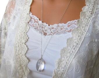 Crystal Quartz Sterling Silver Necklace