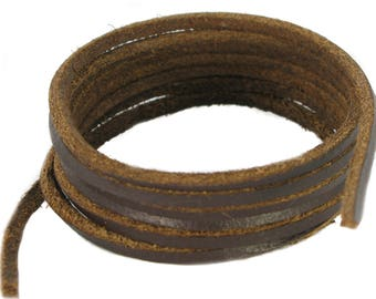 Shoe and Boot Laces - Dark Brown leather Size 45-300 cm