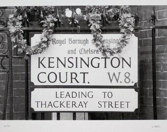 21 : London - Milestone Hotel, Kensington Court - limited edition screenprint