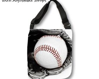 Baseball Tote Bag-Travel Bag-Canvas Tote-Shopping Bag-Sports Bag-Team Mom Gift-Weekend Tote Bag-Overnight Tote Bag
