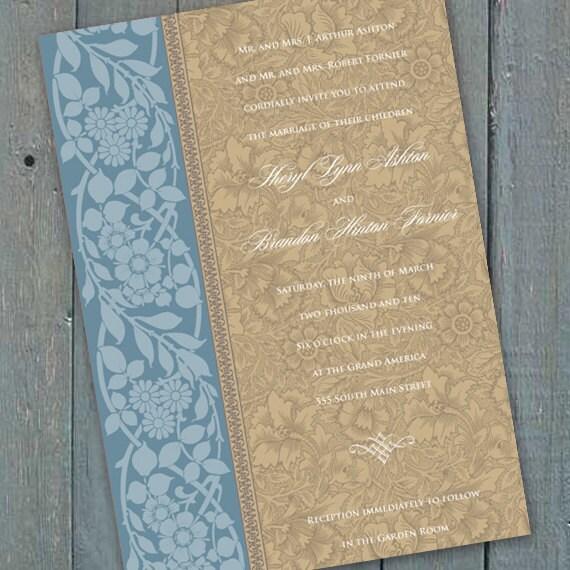 wedding invitations, spring wedding invitations, blue wedding invitations, country blue wedding invitations, blue bridal shower, IN151_3