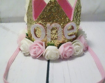 Birthday Crown, 1st Birthday Crown, First birthday Crown, ONE birthday Crown