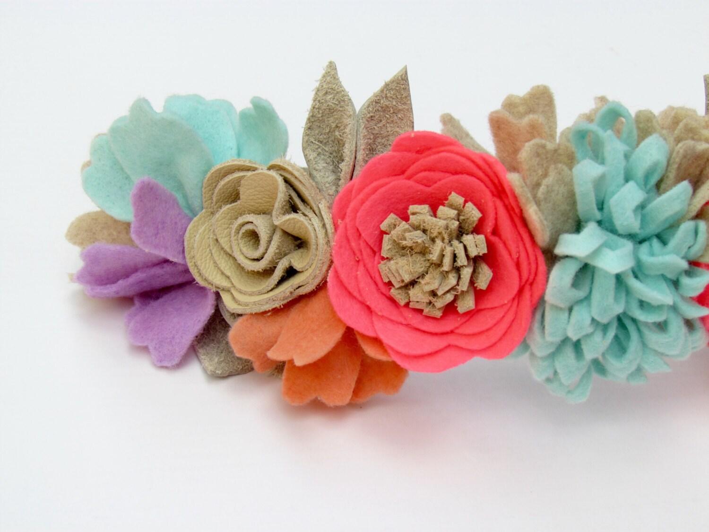 Dream flower crown felt flower crown gallery photo gallery photo gallery photo izmirmasajfo Image collections
