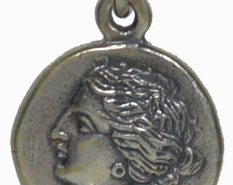 Artemis & Pegasus Small Silver Pendant
