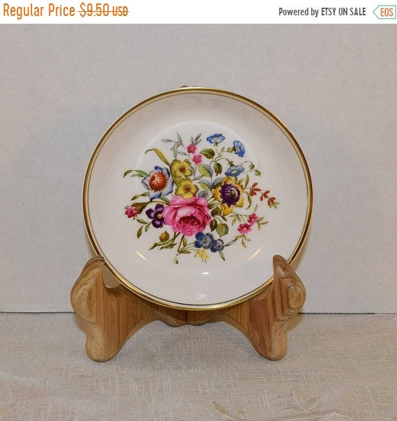 Delayed Shipping Royal Worcester Bournemouth Coaster Vintage Porcelain Floral Gilded Ashtray Shabby Chic Dish Vanity Dresser Trinket Bowl En
