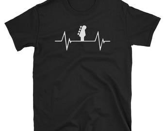 Bass Guitar Shirt Gift Heartbeat Tee