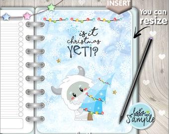 60%OFF - Christmas Planner Insert, Printable Planner Insert, Planner Divider, Planner Quote, Dashboard, Kawaii Planner, Yeti Insert, Holiday