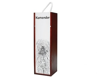 Komodor - Wine box with an image of a dog.
