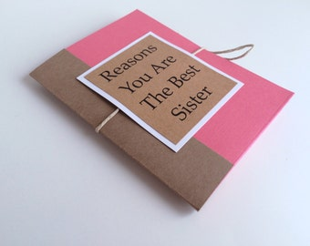 Reasons You Are The Best Sister Mini Book Gift Card For