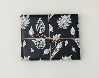 Large leaf pattern gift wrap