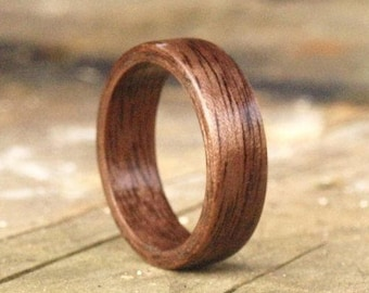 Wooden Rings - Bentwood Walnut Rings - Mens Wood Rings, Womens Wood Rings, Wood Engagement Rings, Wood Wedding Bands