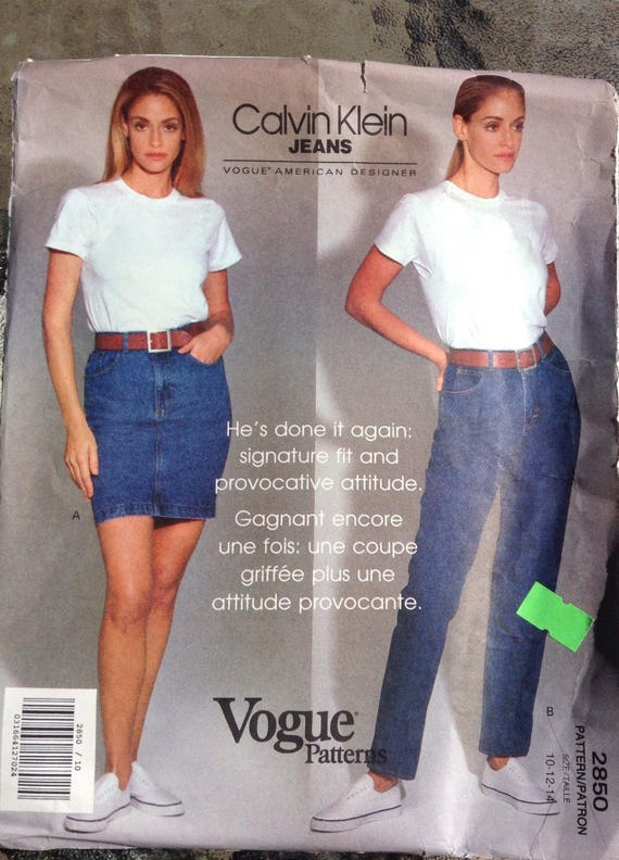 Designer Calvin Klein Jeans Vogue sewing pattern from Followlight on ...