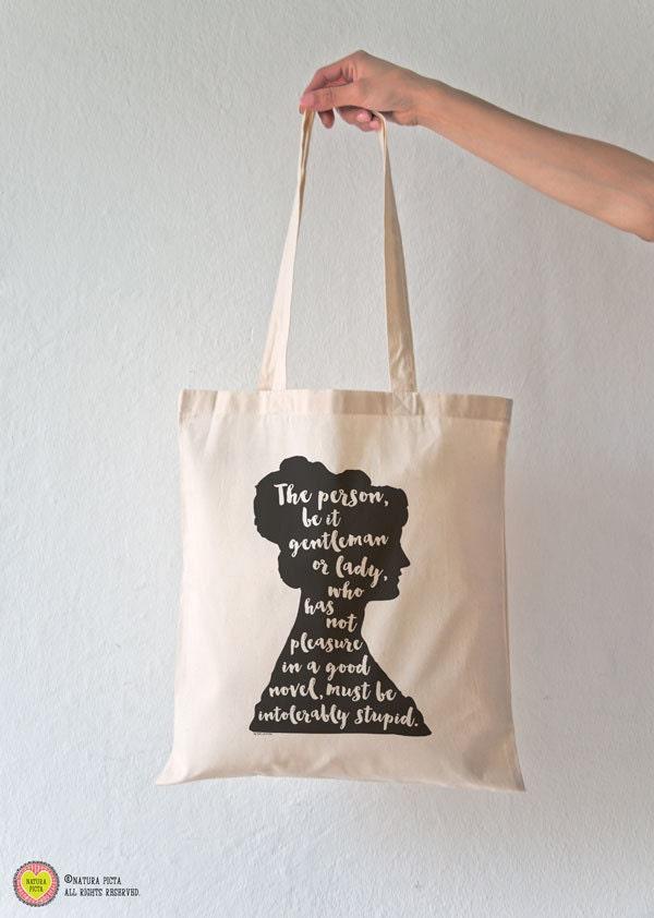 Jane Austen quote tote bag-Jane Austen tote-Literature
