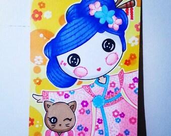 Yuki Kimono (Lalaloopsy) Hand Drawn Sketch Card / ACEO