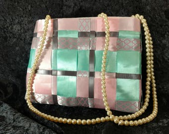 Satin Ribbon Special Occasion Clutch
