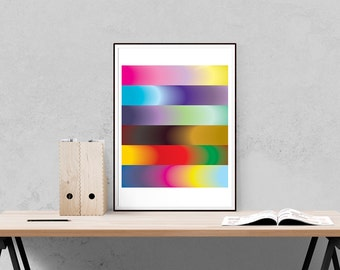 Colour Forms - Abstract Art Print