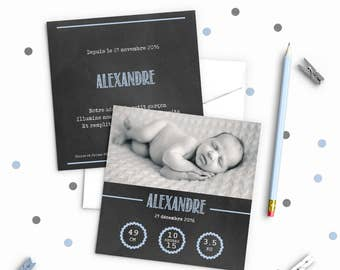Birth announcement / christening - model Alexander