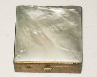 Small Mother of Pearl Powder Compact