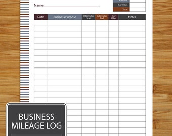small business mileage log