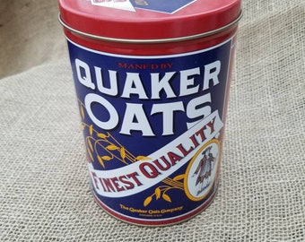 Quaker Oats Vintage Canister Tin 1992