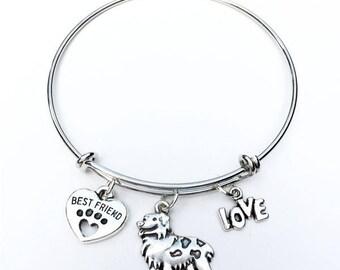 Australian Shepherd Best Friend Charm Bracelet