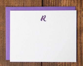 Instock Monogram Swoosh Letterpress Notecards - Set of 10