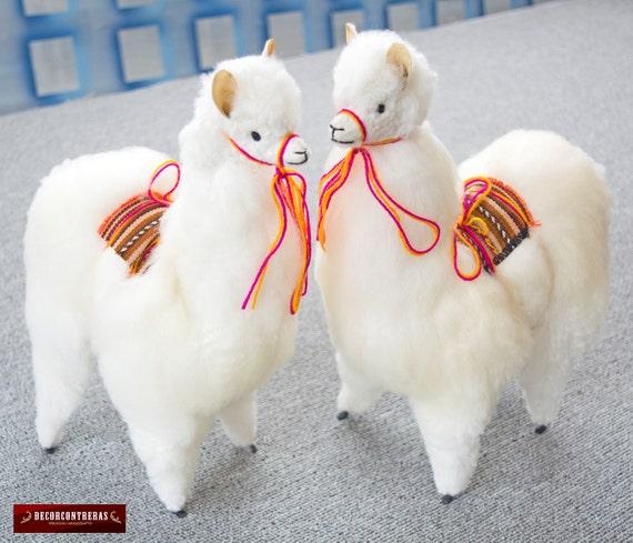 Handmade Baby Alpaca Stuffed Animal Plush Llama 2 Pack Fur