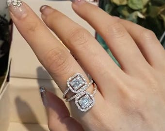 18k Two Tone Diamond Ring, For the Ladies, Made to Order, Fashion Jewelry, Luxury