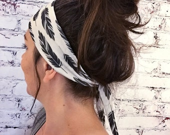 Black Feathers - Eco Friendly Yoga Headband
