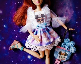 Handmade outfit for dolls,Barbie  and similar