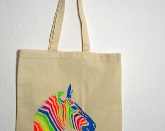 Canvas tote bag - Zebra