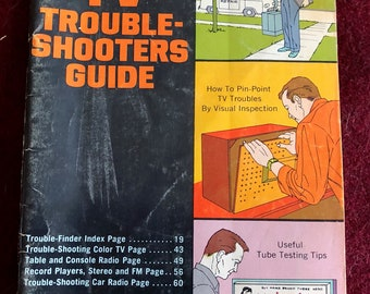 Do-It-Yourself TV Trouble-Shooters Guide by Sperry/1963/64 pages/Hardback/Free SH to US/Great Condition#628