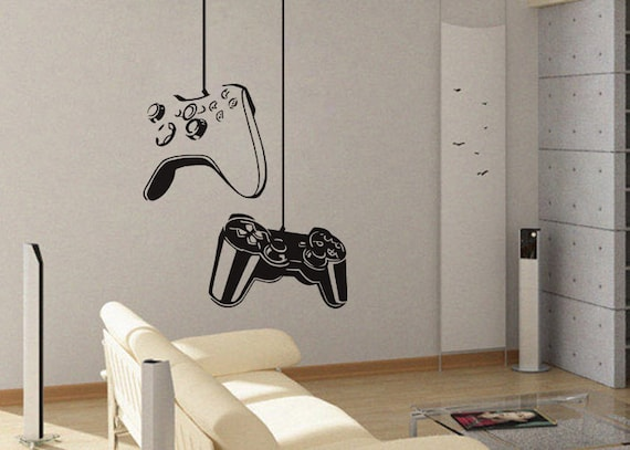 Delightful Gamer Wall Decal Gamer Decor Video Game Wall Decals Gaming