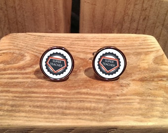 Super Teacher Cufflinks - can be fully personalised