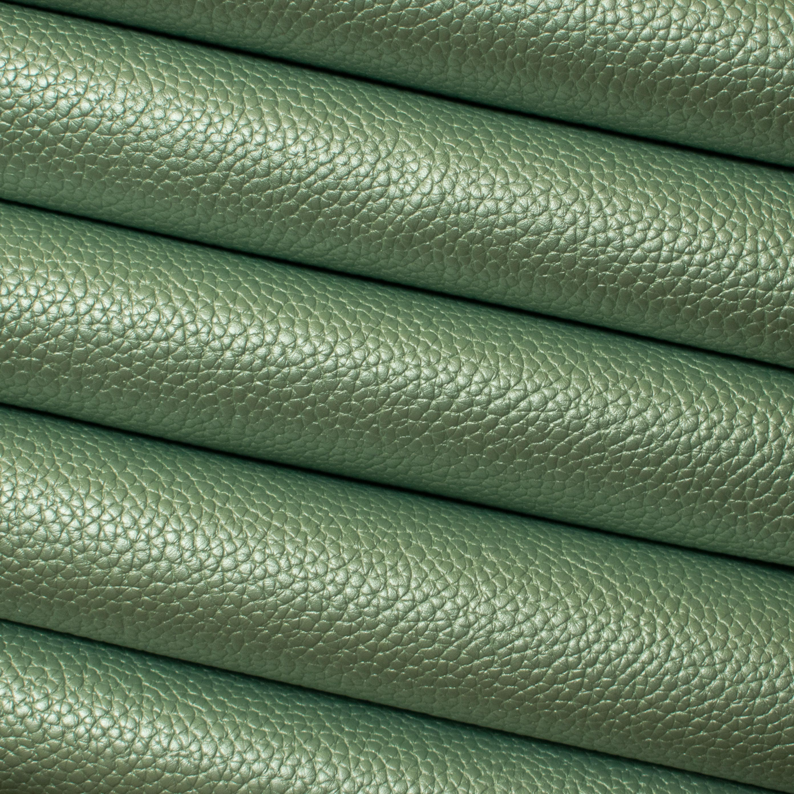 Pearl Mint Textured Metallic Leatherette Fabric Sheet from