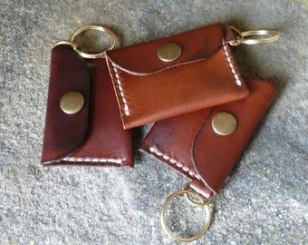 SCKLeather Handmade Veg Tanned Leather Key Ring
