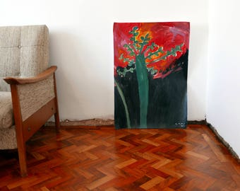 Original Faye Moorhouse painting - FOREST FIRE - free international shipping