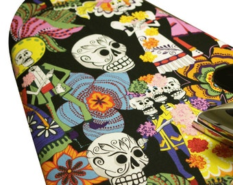 PADDED Ironing Board Cover Designer ironing board cover Custom cover rockabilly home Alexander Henry's Day of the Dead black pick size