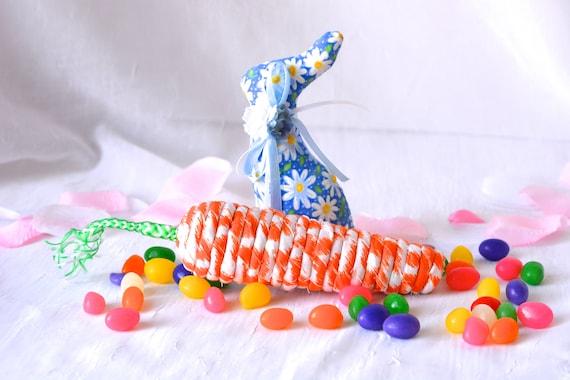 Easter Carrot Ornament, Handmade Orange Easter Carrot Decoration, Easter Egg Hunt, Hand Coiled Fiber Easter Carrot