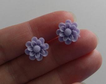 Mum Flower Stud Earrings