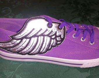 Angel wings4 shoe wings in the hoop machine embroidery design